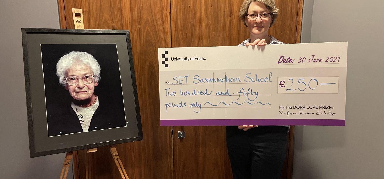 SET Saxmundham School awarded Dora Love Prize